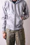 Whitesville Zip-Up Hooded Sweatshirt in Heather Grey