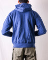 Whitesville Zip-Up Hooded Sweatshirt in Navy