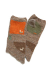 Wool GABBEH Mitten - Brown