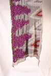 Compressed Wool Scarf NAVAJO VINEYARD - Purple