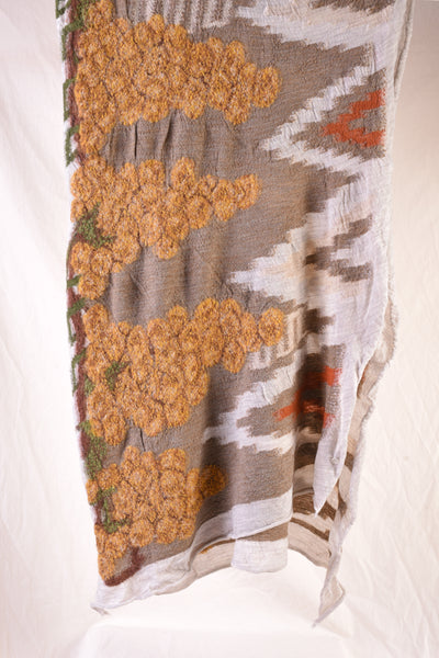 Compressed Wool Scarf NAVAJO VINEYARD - Yellow