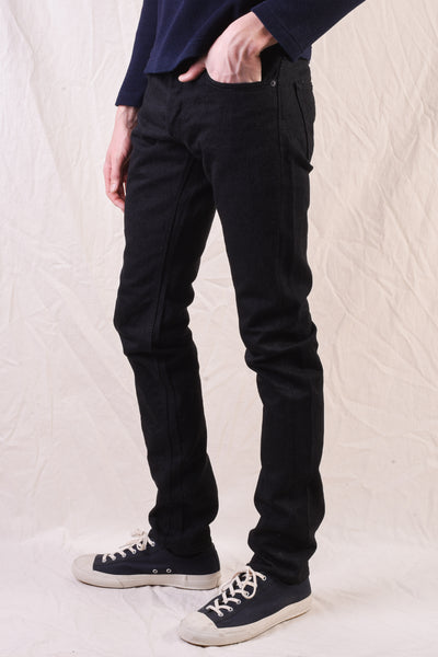 XX-013-BB Black Slim Tapered Jeans BIG Exclusive Version