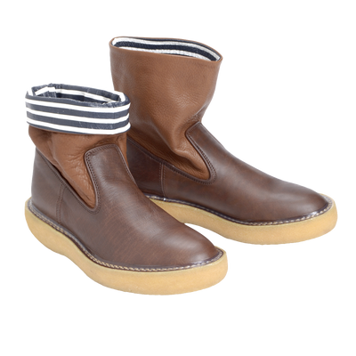 Wrinkle Popeye Boots Brown