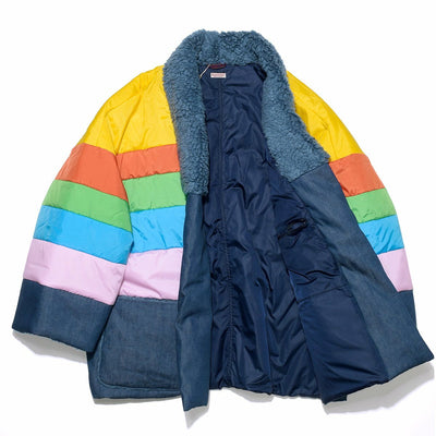 Denim x Nylon Rainbow SURF KESA Jacket - Rainbow