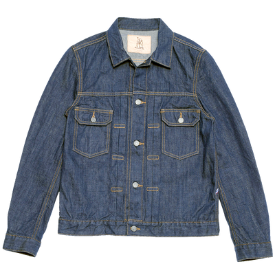 Hand Dyed Natural Indigo Jean Jacket