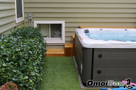 Custom 3 Piece Hot Tub Table and Stairs