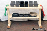Mobile Workout Weight Storage Station