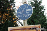 Height Adjustable Wooden Basketball Hoop Setup with Custom Sign
