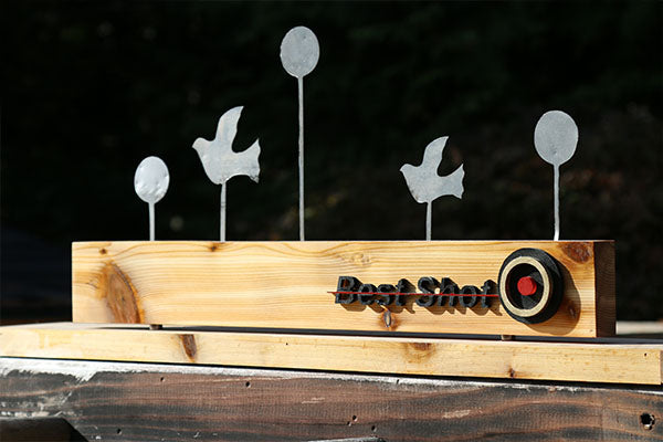 Steel Plated Wooden Target that Transforms to Home Decor