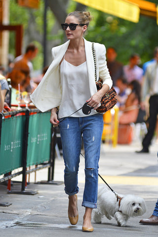 Olivia Palermo wearing Baby style in Camel color
