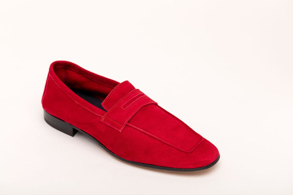 Men's Moccasin Red Suede men's moccasins Andrea Carrano