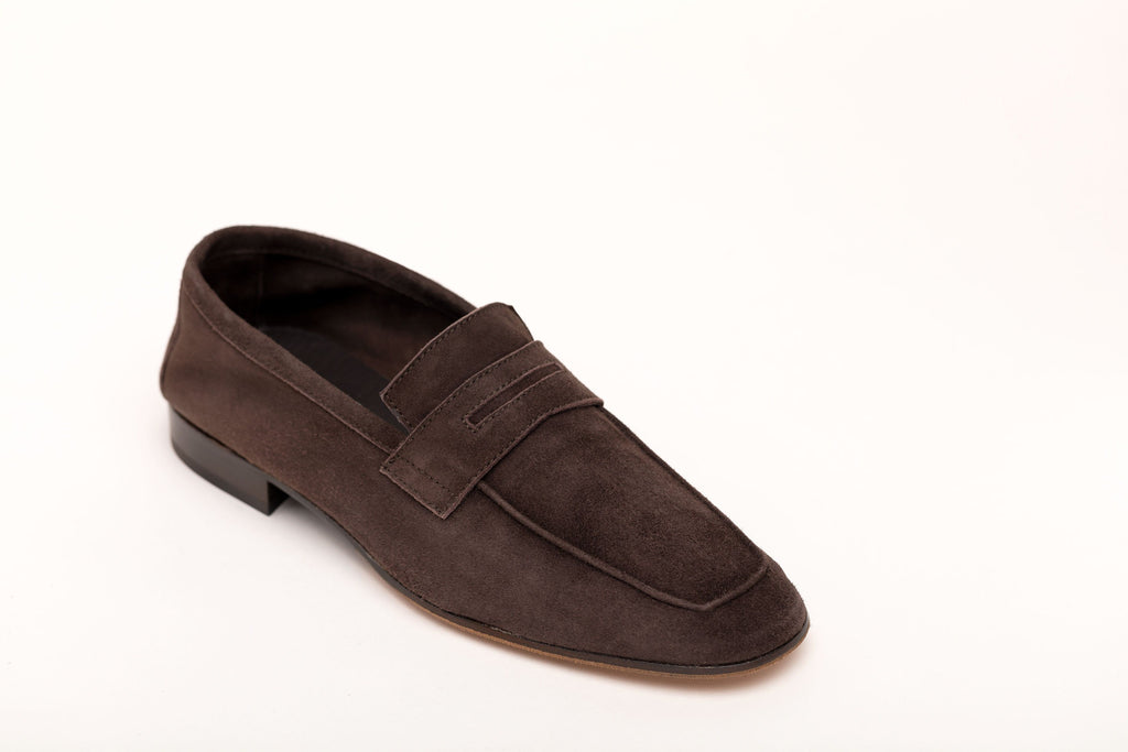 Men's Moccasin Dark Brown Suede men's moccasins Andrea Carrano