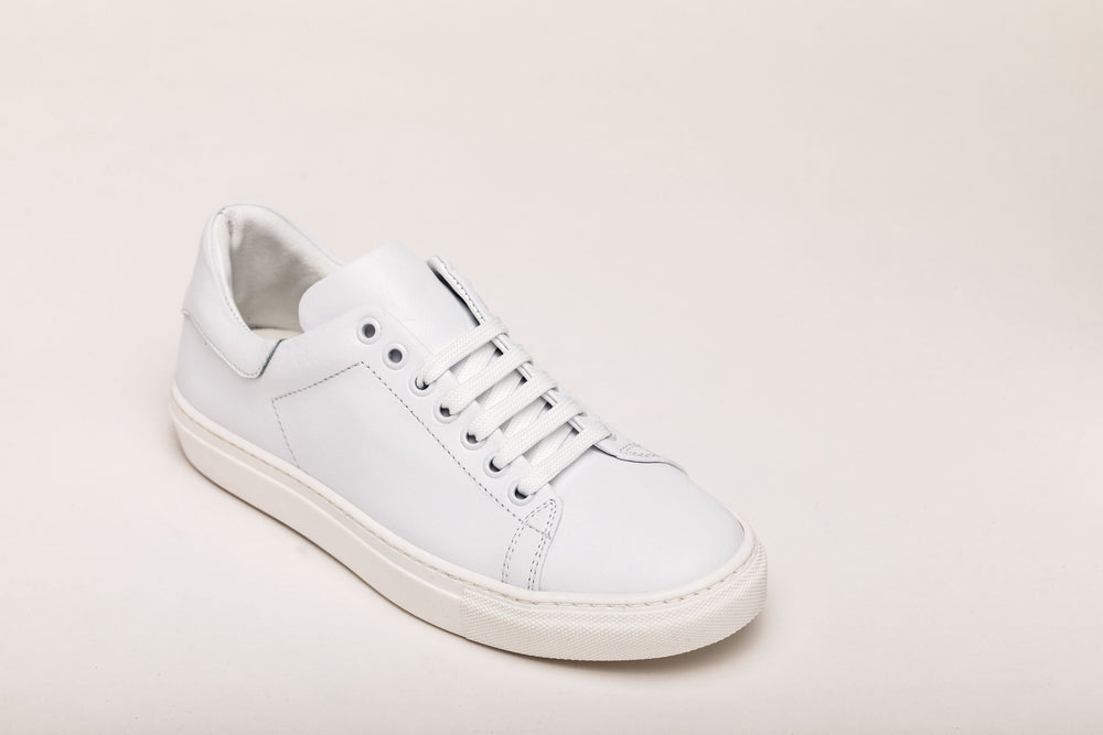 Women's Sneaker Benny All White Leather sneakers Andrea Carrano