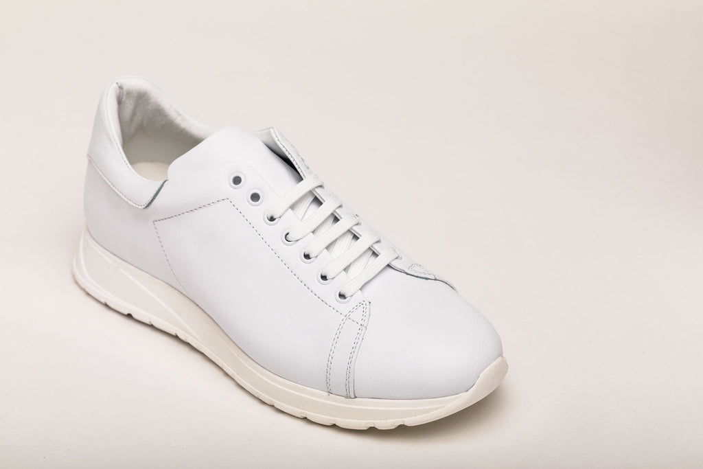 Men's Sneaker Benny All White Leather men's sneakers Andrea Carrano