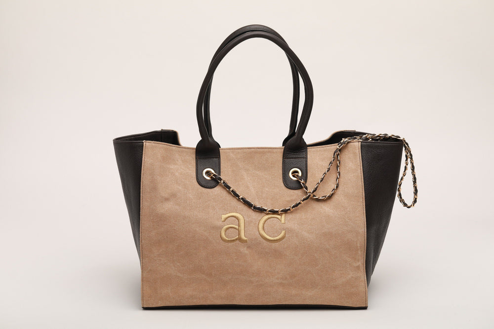 GIADA in TAN CANVAS bags andreacarrano