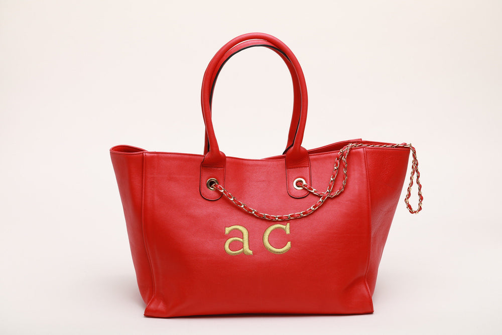 GIADA in RED LEATHER bags Andrea Carrano