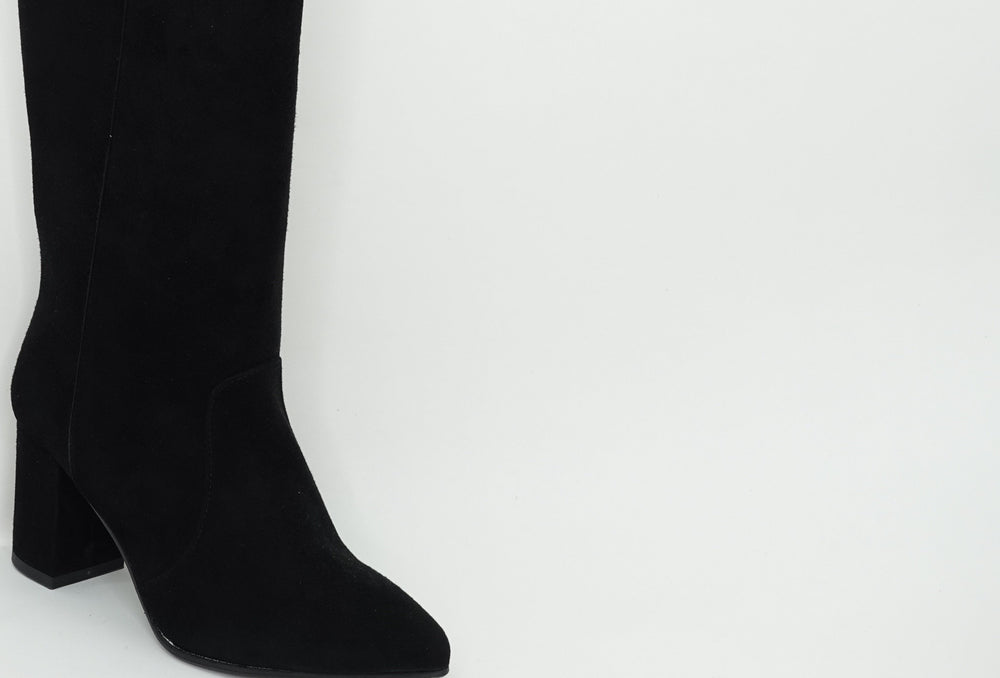 TUBO BLACK SUEDE boots andreacarrano