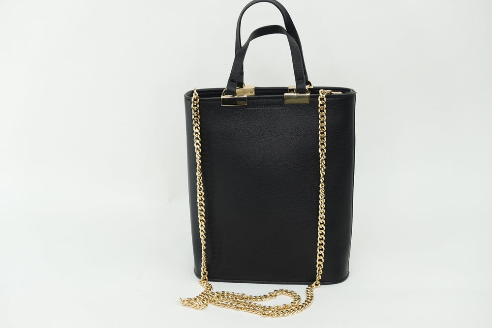 INGRID BLACK LEATHER bags andreacarrano