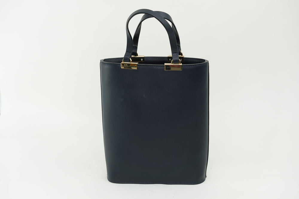 INGRID NAVY LEATHER bags andreacarrano