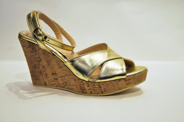 ST LUCIA in GOLD LEATHER