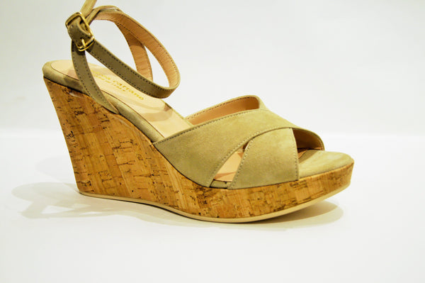 ST LUCIA in BEIGE SUEDE