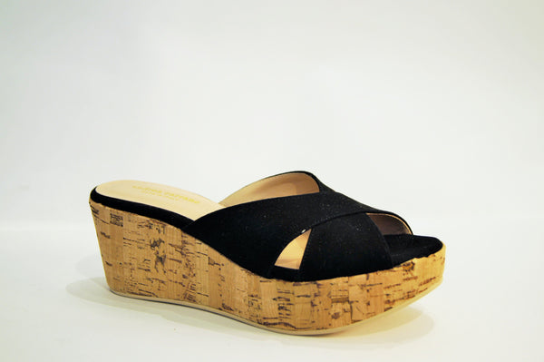 ANTIGUA lower wedge in BLACK SUEDE