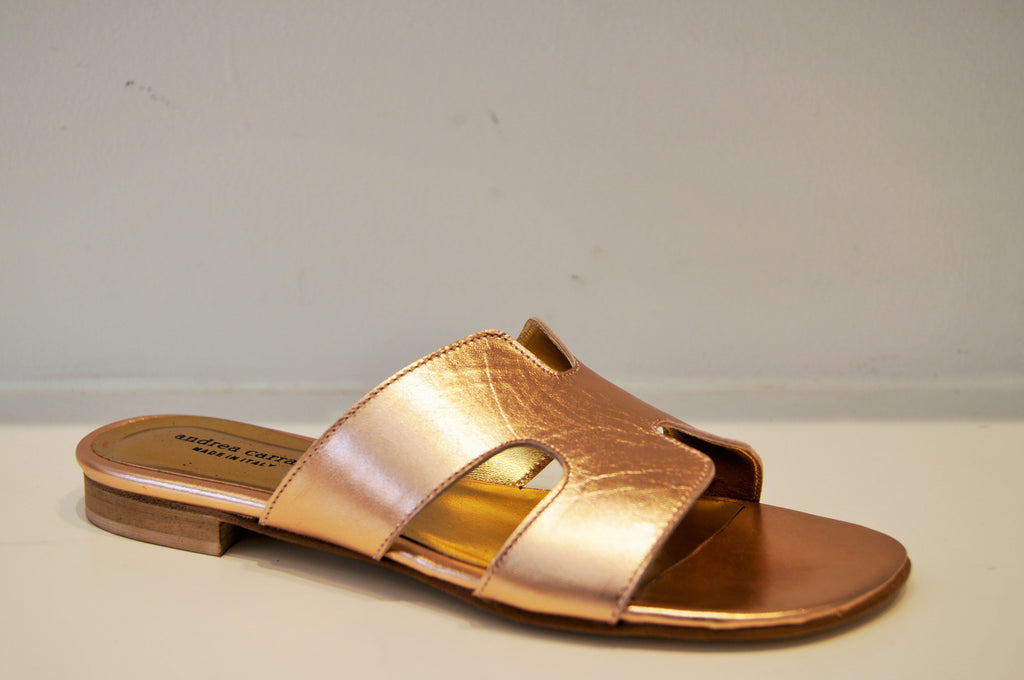 H SANDAL PEACHY GOLD METALLIC