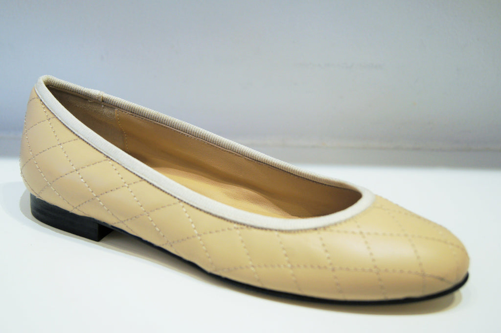 BABY TRAPUNTA BEIGE LEATHER