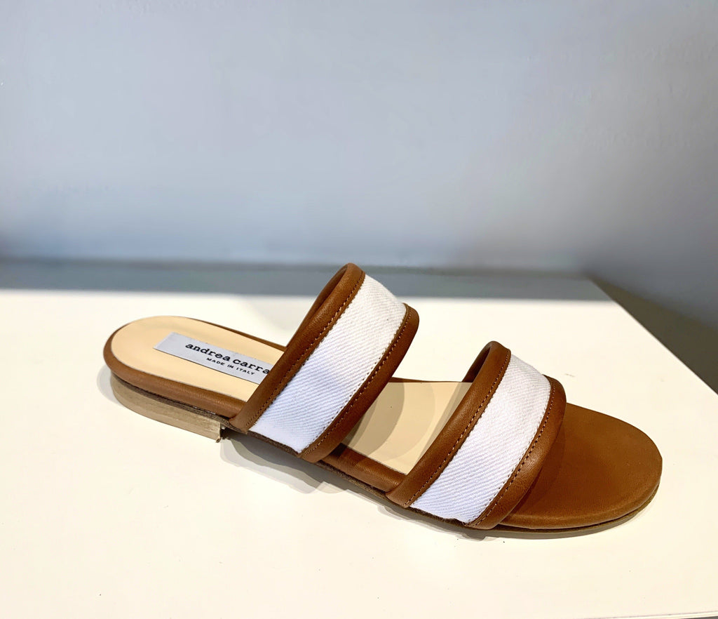 CHIARA SANDAL in WHITE LEATHER