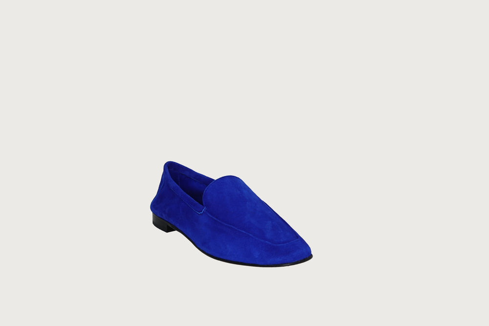 Moccasin Cobalt Blue Suede HOLIDAY 2020 Andrea Carrano