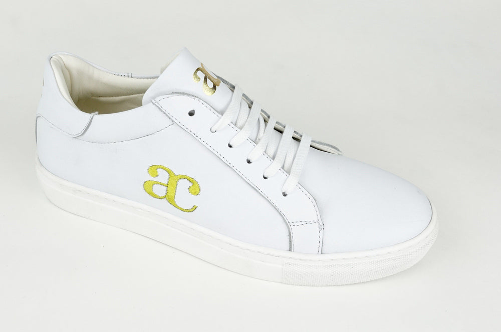 Women's Sneaker Benny Gold & White sneakers Andrea Carrano