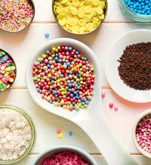 Edible Confetti, Jimmies, Quins, Sprinkles & Sugars