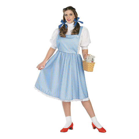 Wizard of Oz Dorothy Blue Gingham Dress Adult Plus Size Costume - Size Plus (Fits 16-22)