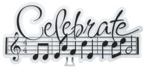 Celebrate Music with Easel Cake Topper