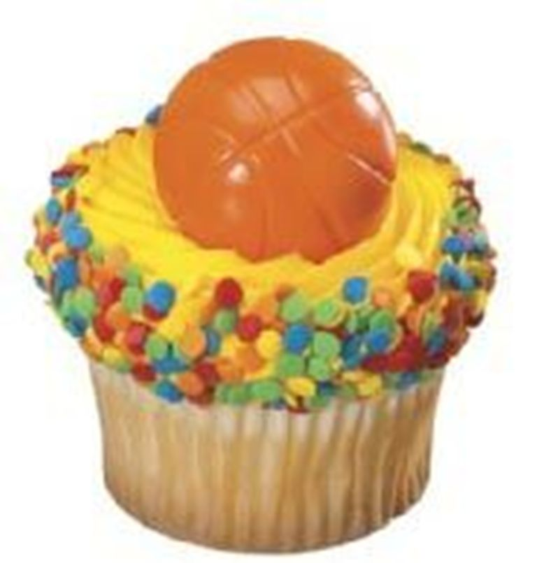24 Basketball Cupcake Rings