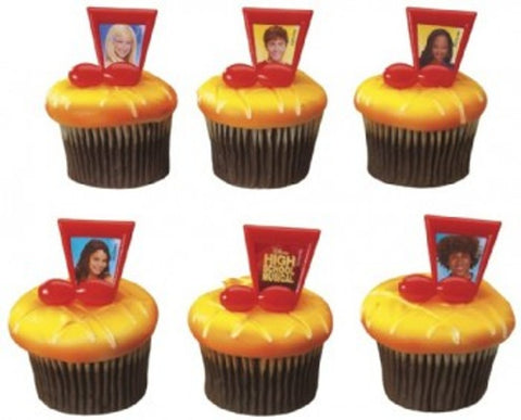 24 High School Musical Cupcake Rings