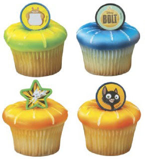 12 Bolt & Friends Cupcake Rings