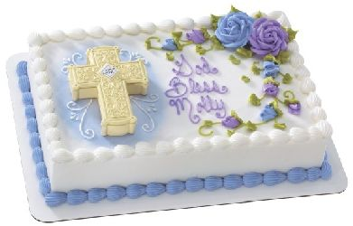 Ornate Cross Box Cake Decorating Topper