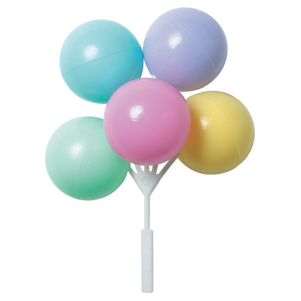 Bright Pastel Balloon Cluster Cake & Cupcake Picks