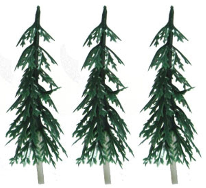 Small Evergreen Tree Cake Toppers - Set of 2