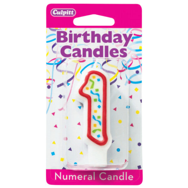 Numeral 1 First Birthday Party Candle