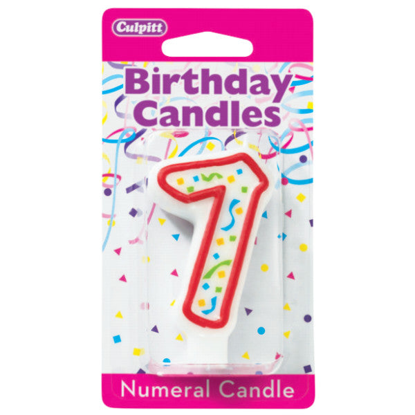 Numeral 7 Seventh Birthday Party Candle