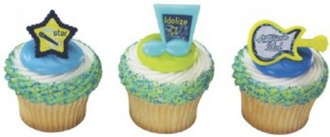 24 American Idol Music Icons Cupcake Rings