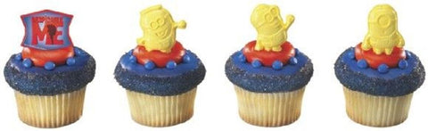 24 Despicable Me Minions Cupcake Rings