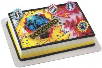 Rock Band Rock On Cake Decorating Topper