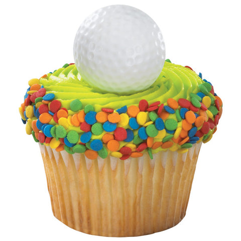 24 Golf Ball 2D Cupcake Rings