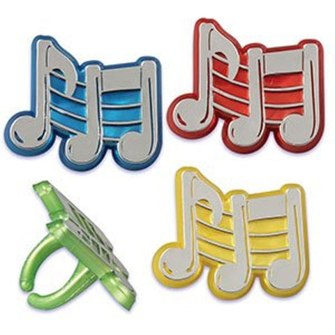 24 Music Note Cupcake Rings