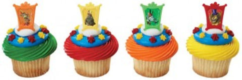 23 Madagascar 3 Star Attractions Cupcake Rings