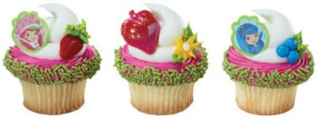 24 Strawberry Shortcake & Friends Cupcake Topper Rings
