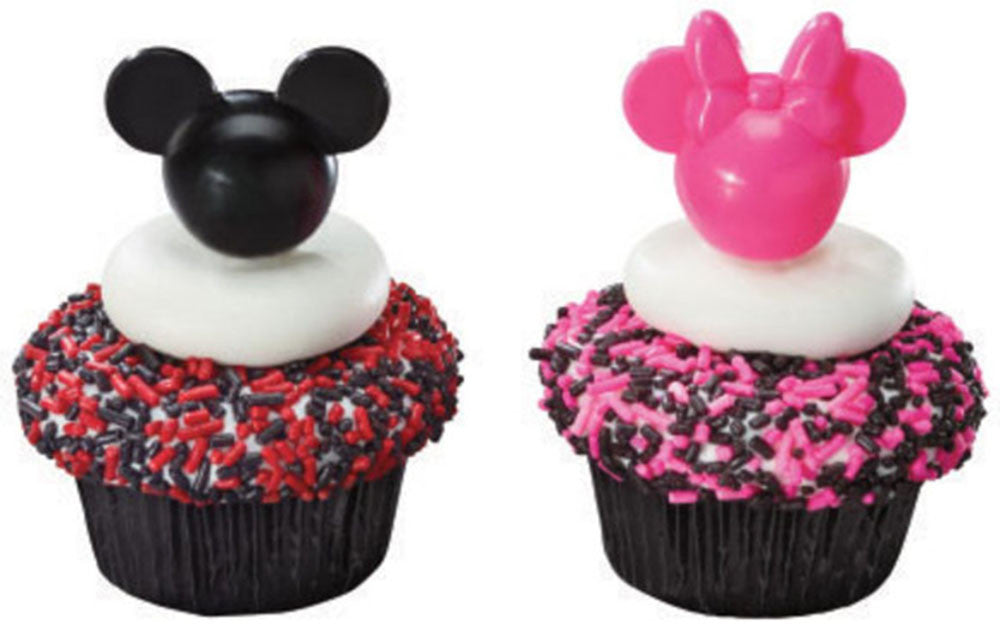 24 Disney Mickey & Minnie Mouse Cupcake Topper Picks